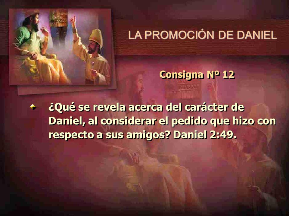LA PROMOCIÓN DE DANIEL Consigna Nº 12.