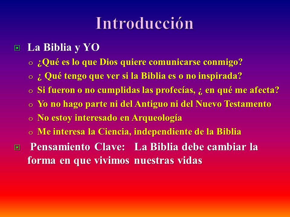 Introducción La Biblia y YO