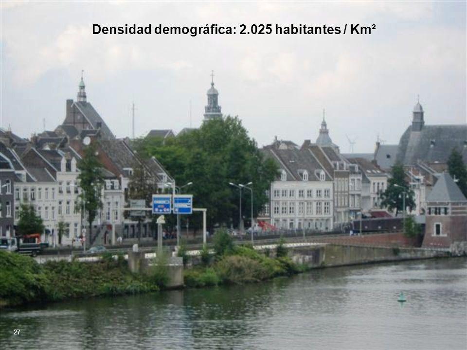 Densidad demográfica: 2.025 habitantes / Km²