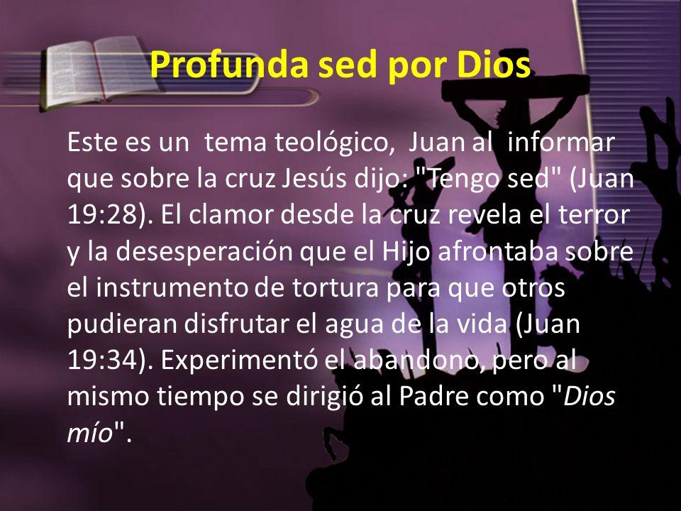 Profunda sed por Dios