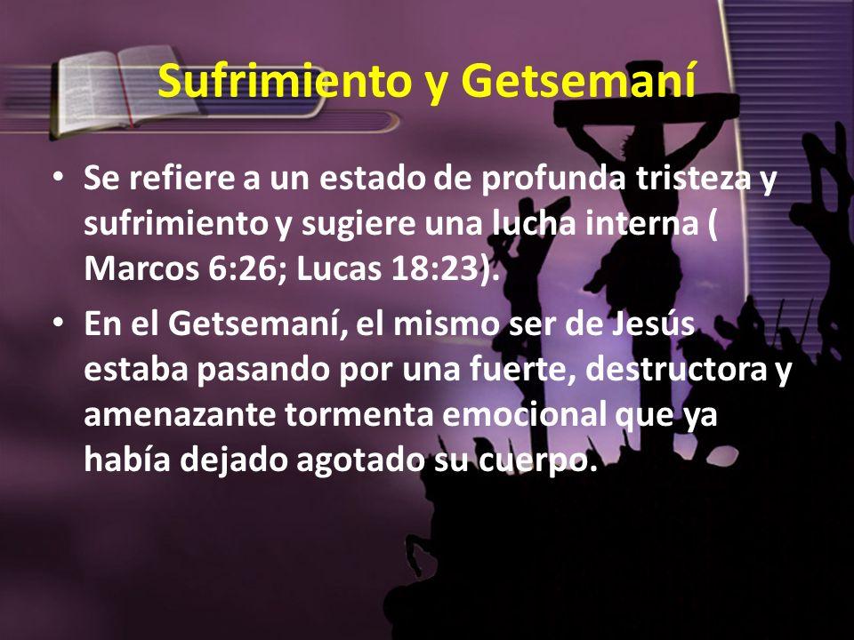 Sufrimiento y Getsemaní