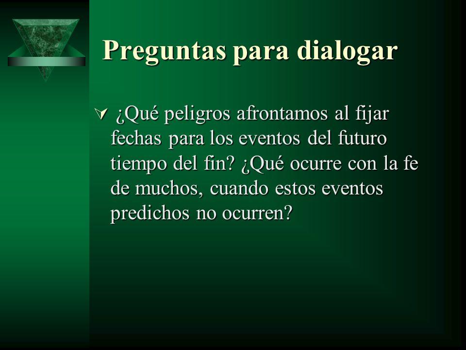 Preguntas para dialogar