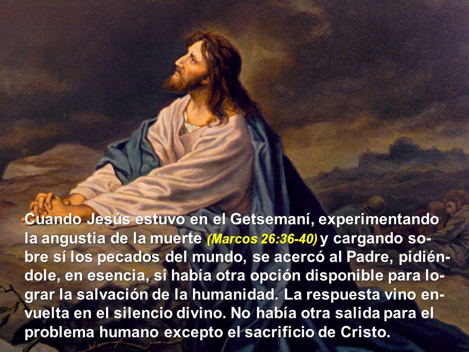 Cuando Jesús estuvo en el Getsemaní, experimentando