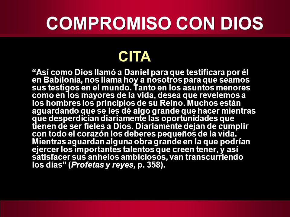 COMPROMISO CON DIOS CITA
