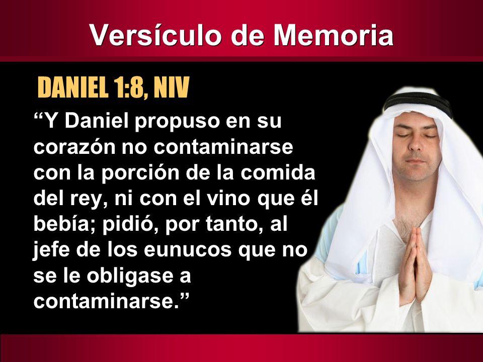Versículo de Memoria DANIEL 1:8, NIV