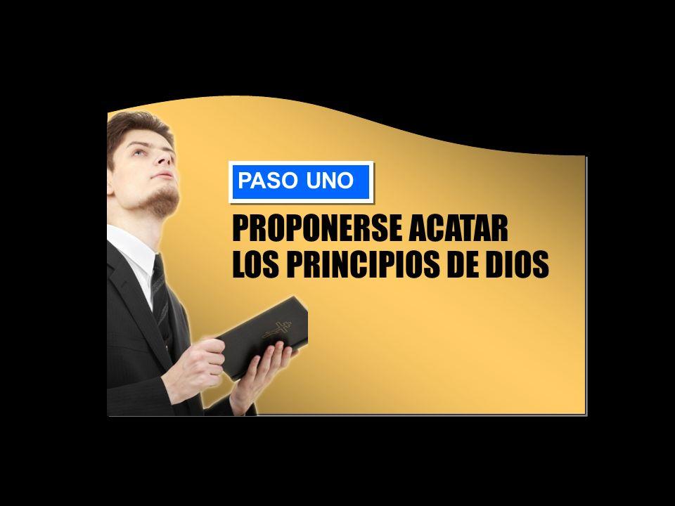 PROPONERSE ACATAR LOS PRINCIPIOS DE DIOS