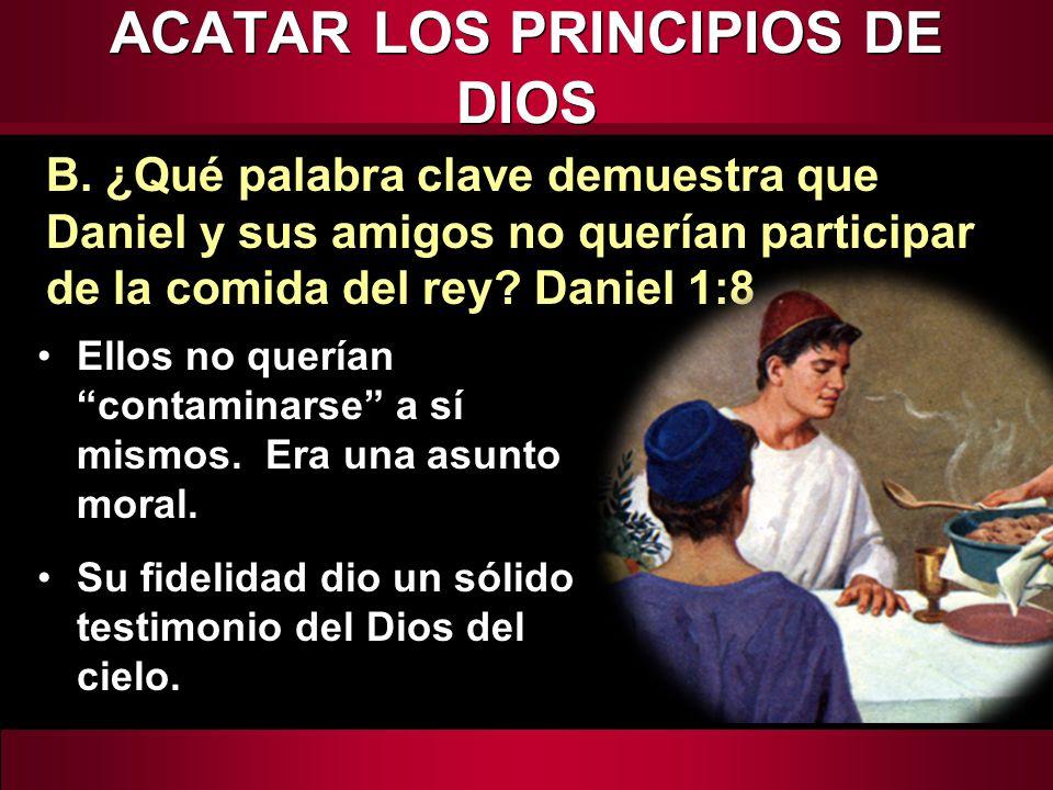 ACATAR LOS PRINCIPIOS DE DIOS