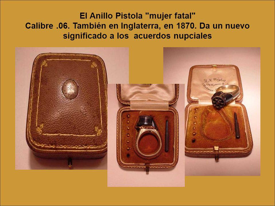 El Anillo Pistola mujer fatal Calibre. 06