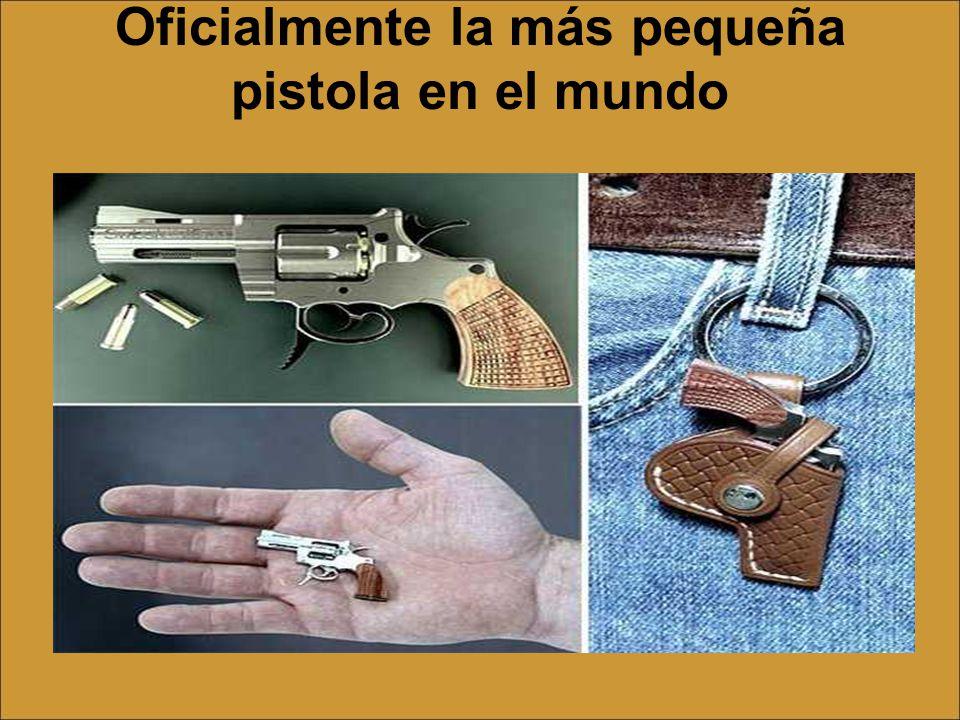 Oficialmente la más pequeña pistola en el mundo