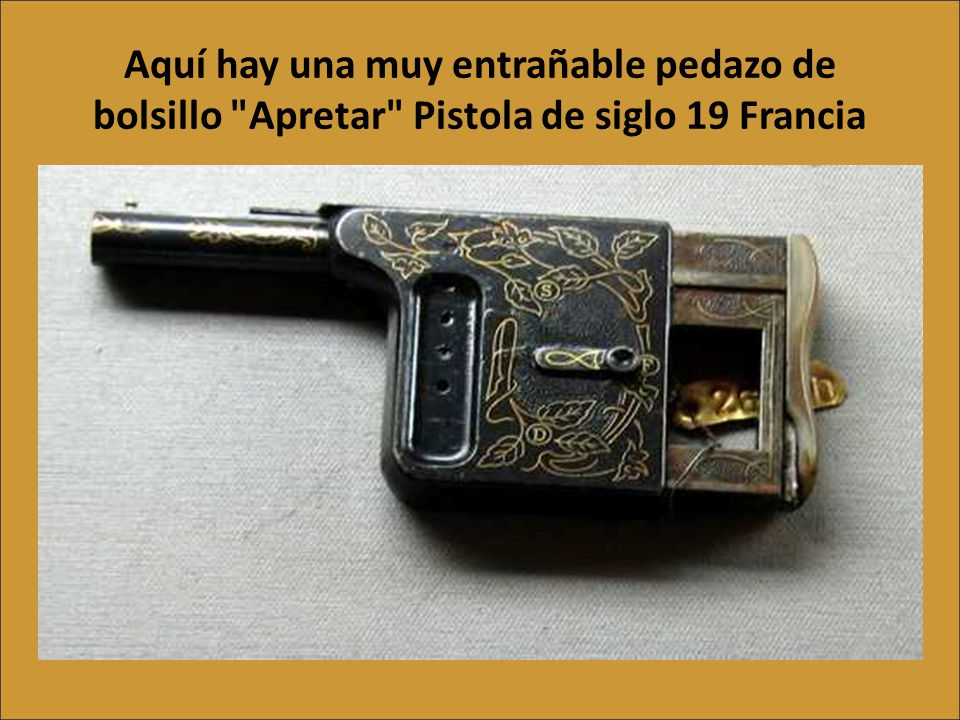 Aquí hay una muy entrañable pedazo de bolsillo Apretar Pistola de siglo 19 Francia