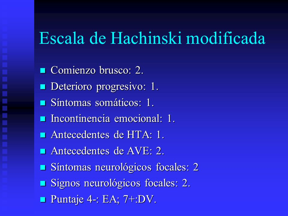 Escala de Hachinski modificada