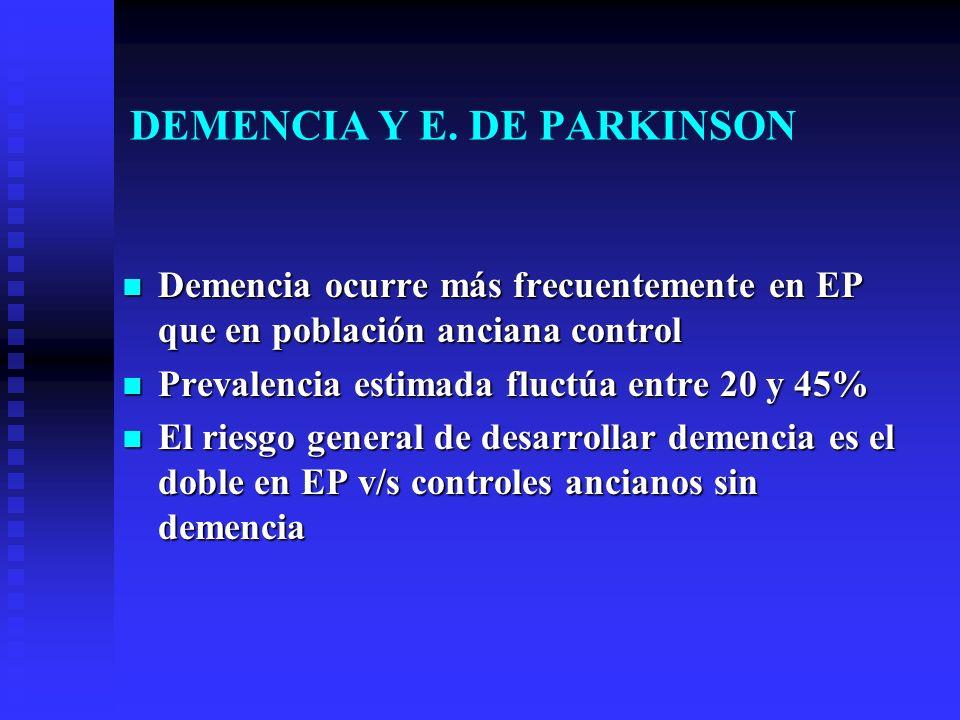DEMENCIA Y E. DE PARKINSON