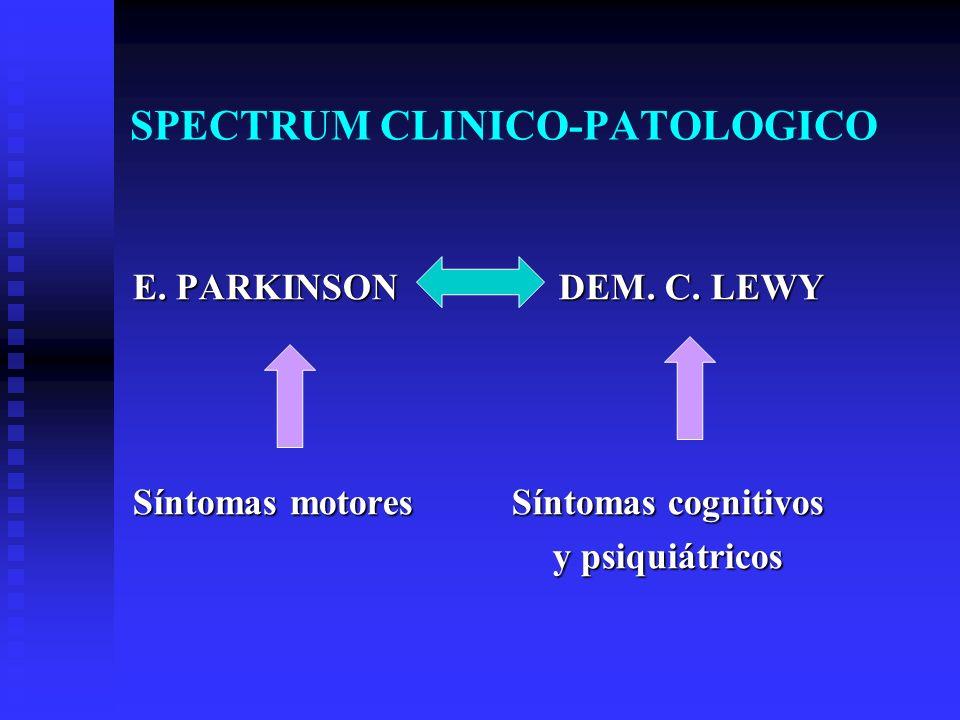 SPECTRUM CLINICO-PATOLOGICO