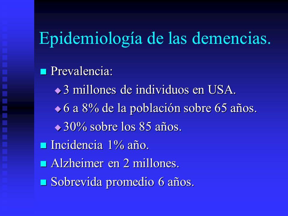 Epidemiología de las demencias.