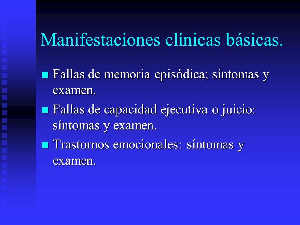 Manifestaciones clínicas básicas.