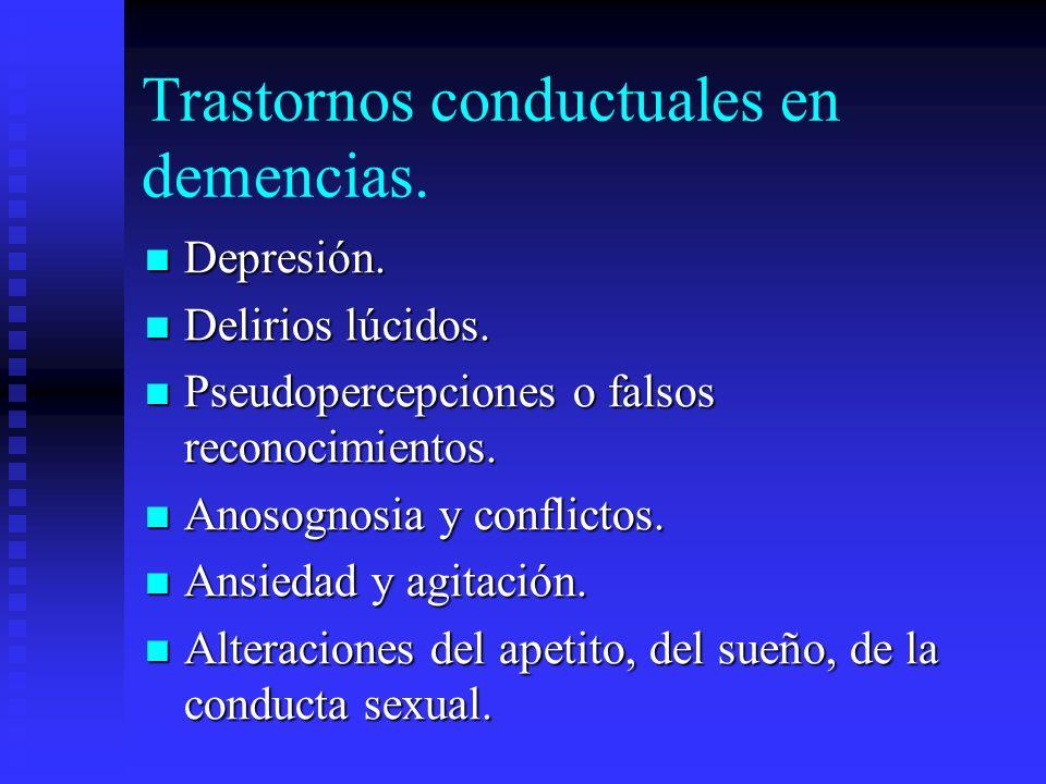 Trastornos conductuales en demencias.