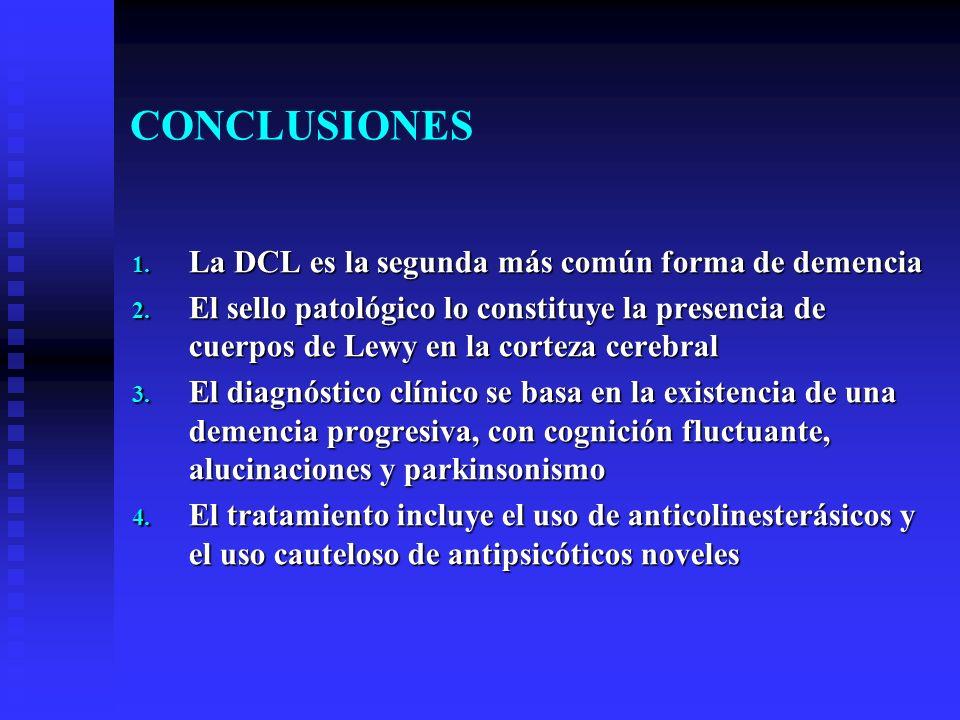 CONCLUSIONES La DCL es la segunda más común forma de demencia