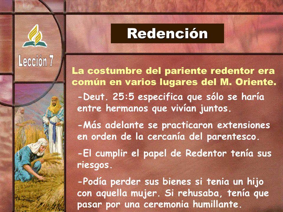 Redención La costumbre del pariente redentor era