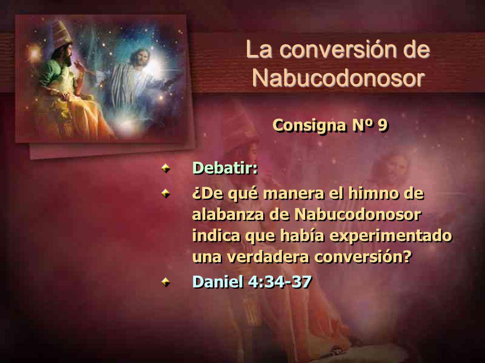 La conversión de Nabucodonosor