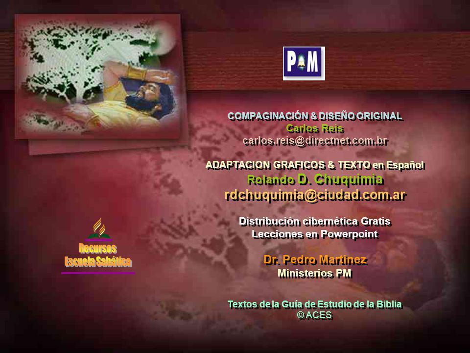 rdchuquimia@ciudad.com.ar Rolando D. Chuquimia Dr. Pedro Martinez