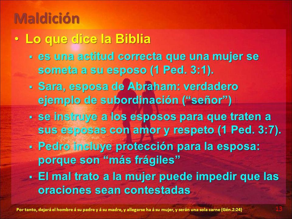 Maldición Lo que dice la Biblia