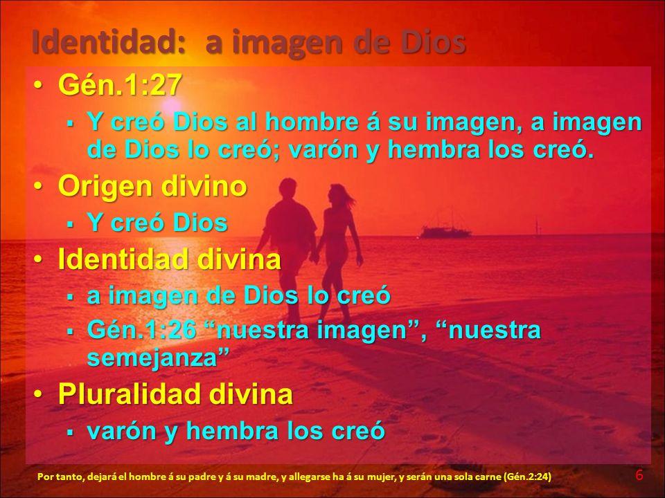 Identidad: a imagen de Dios