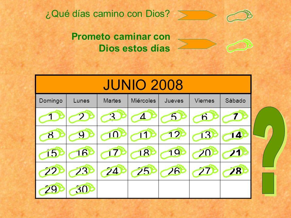 ¿Qué días camino con Dios