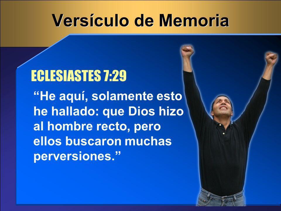 Versículo de Memoria ECLESIASTES 7:29