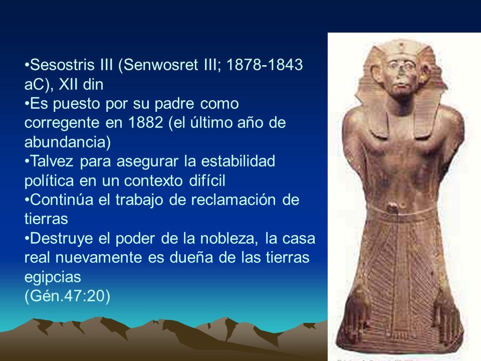Sesostris III (Senwosret III; 1878-1843 aC), XII din