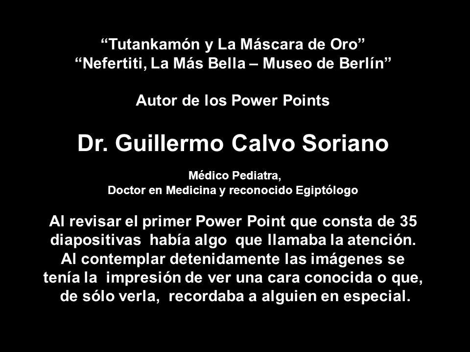 Dr. Guillermo Calvo Soriano