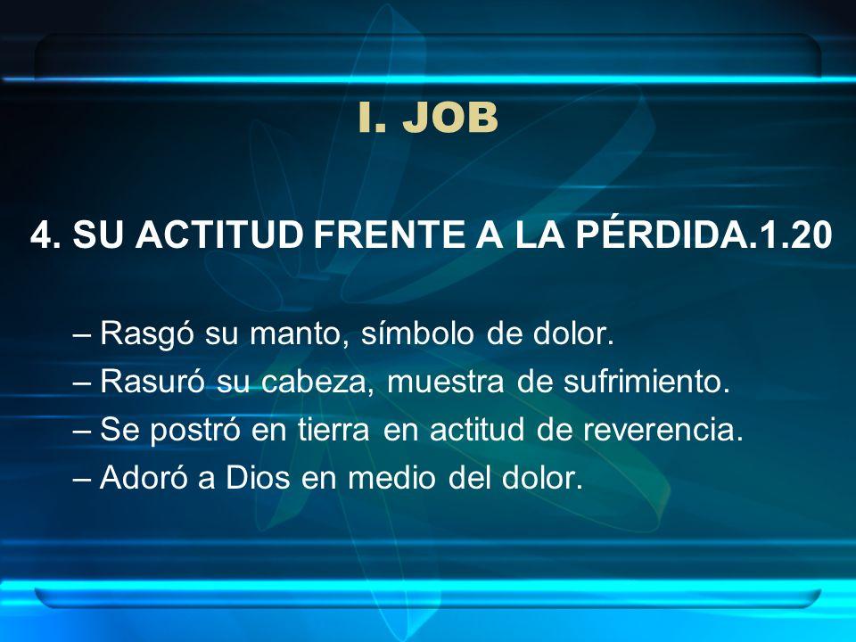 I. JOB 4. SU ACTITUD FRENTE A LA PÉRDIDA.1.20