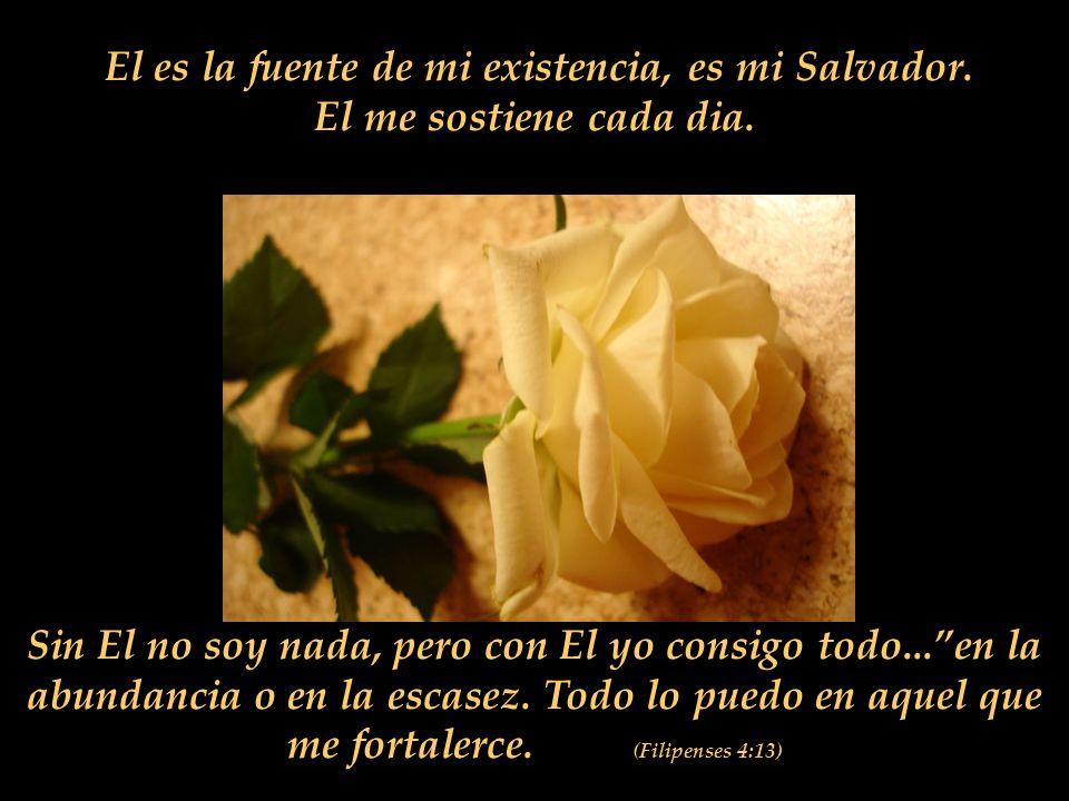 El es la fuente de mi existencia, es mi Salvador.