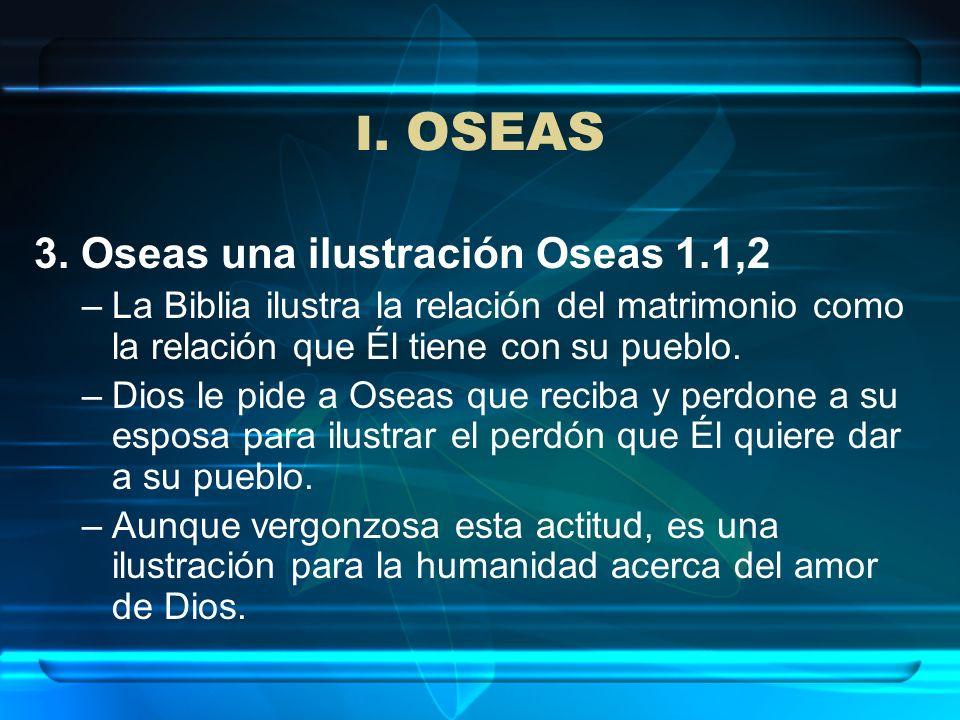 I. OSEAS 3. Oseas una ilustración Oseas 1.1,2