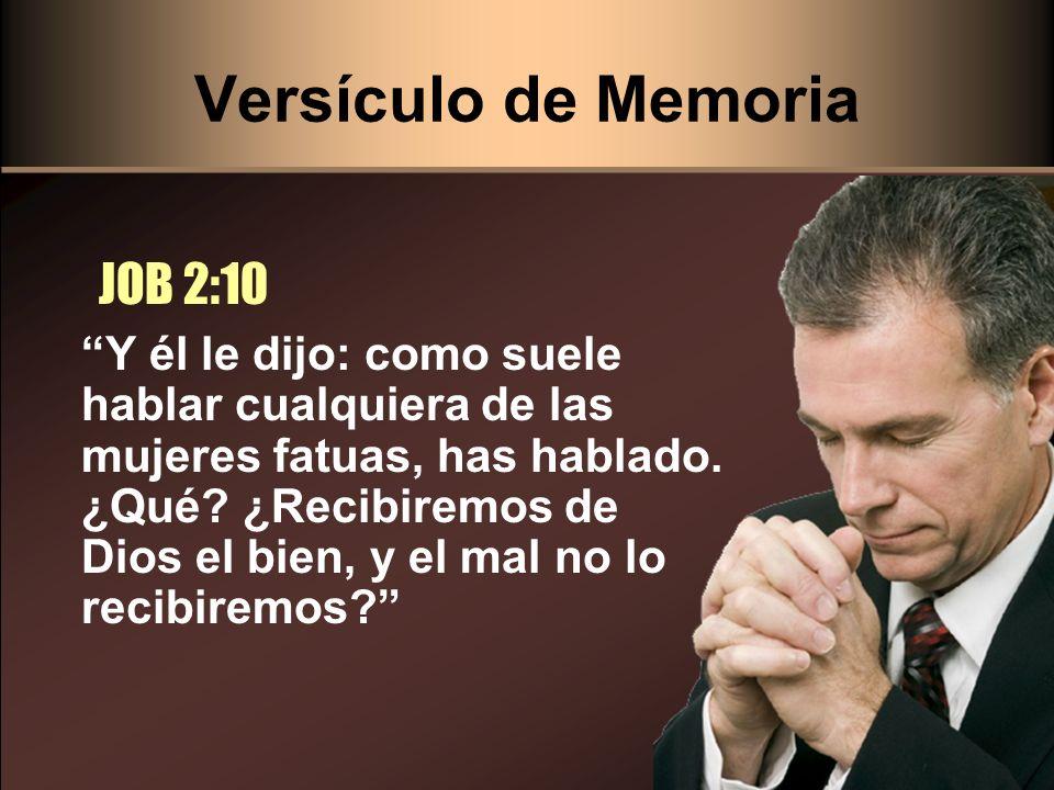 Versículo de Memoria JOB 2:10