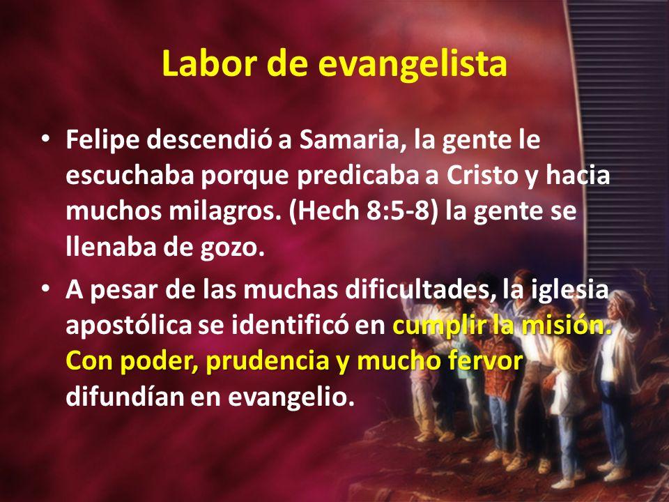 Labor de evangelista