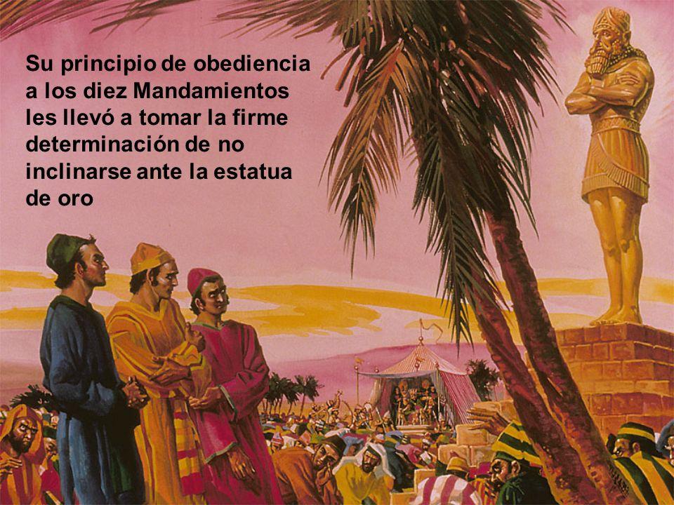 Su principio de obediencia a los diez Mandamientos les llevó a tomar la firme determinación de no inclinarse ante la estatua de oro