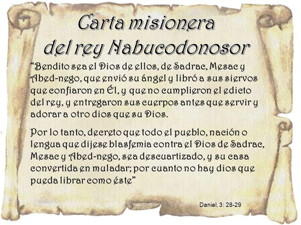 Carta misionera del rey Nabucodonosor