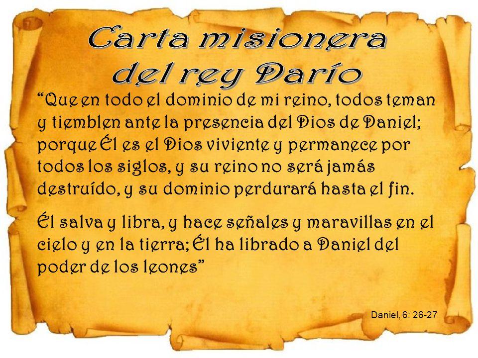 Carta misionera del rey Darío