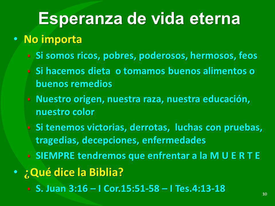 Esperanza de vida eterna
