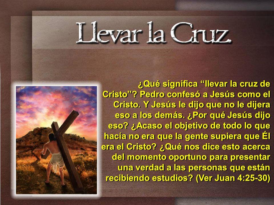 ¿Qué significa llevar la cruz de Cristo