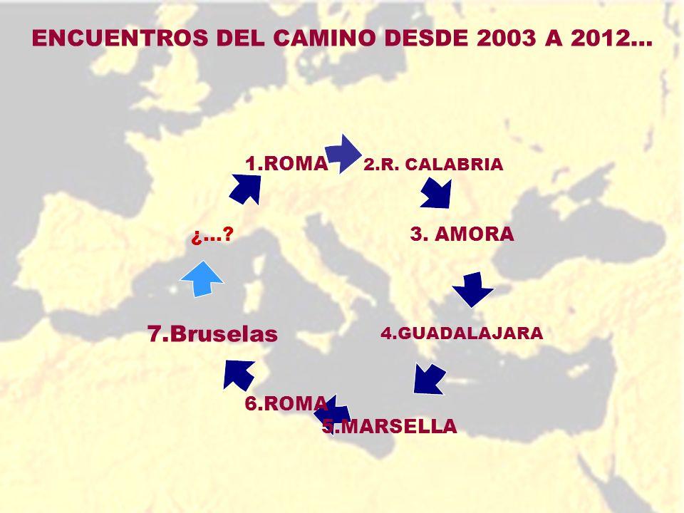 ENCUENTROS DEL CAMINO DESDE 2003 A 2012…