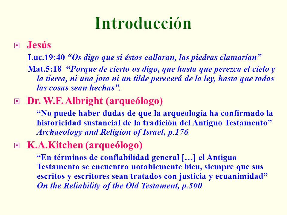 Introducción Jesús Dr. W.F. Albright (arqueólogo)