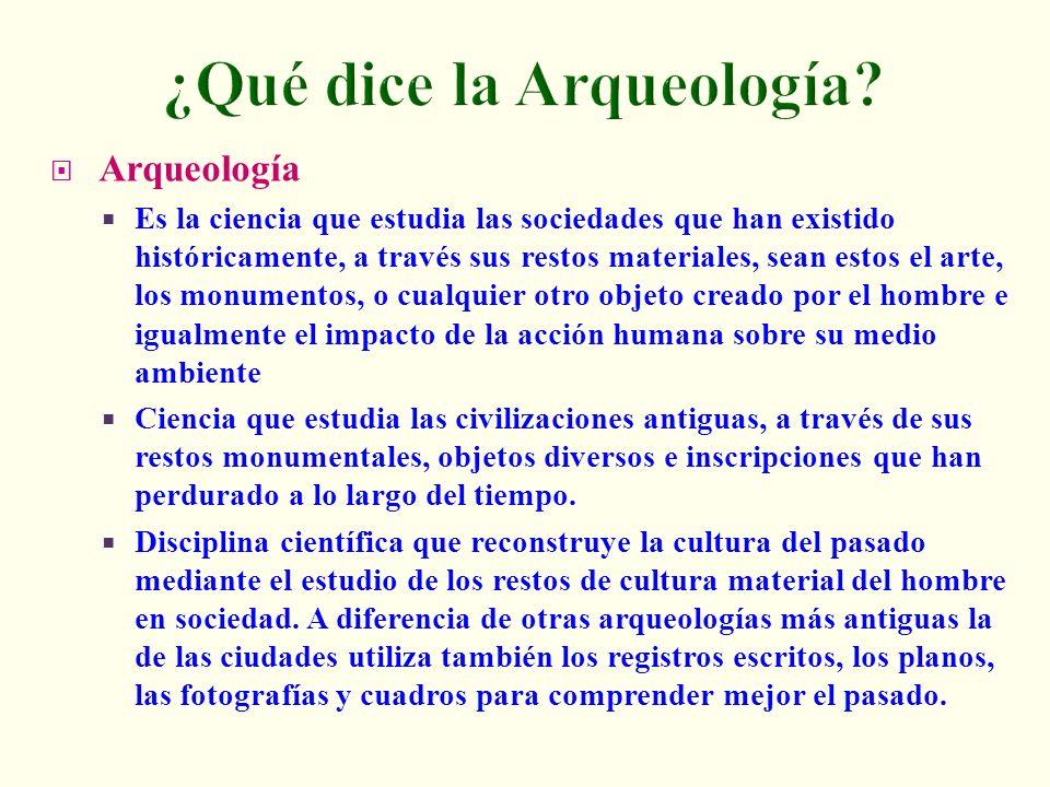 ¿Qué dice la Arqueología