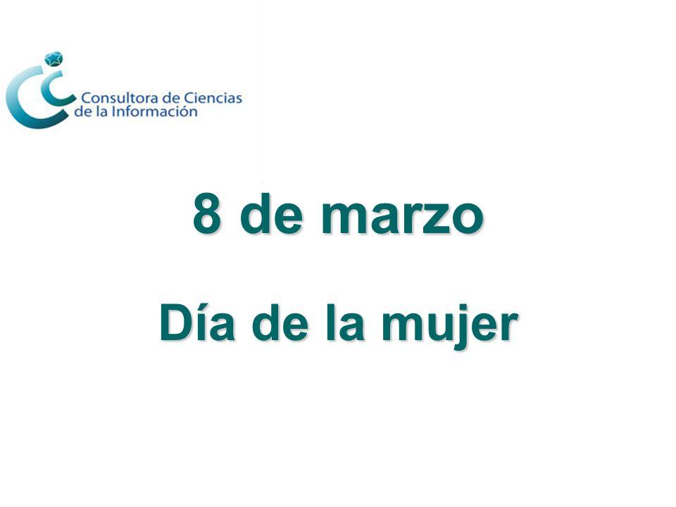 8 de marzo Día de la mujer