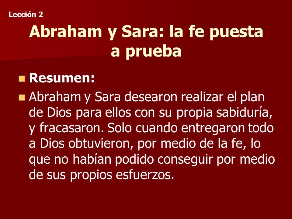 Abraham y Sara: la fe puesta a prueba