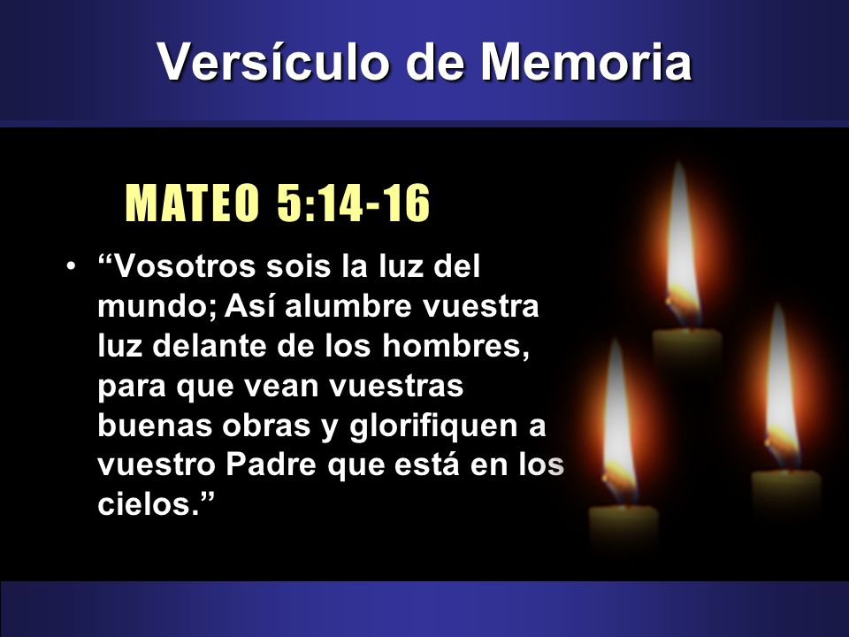 Versículo de Memoria MATEO 5:14-16