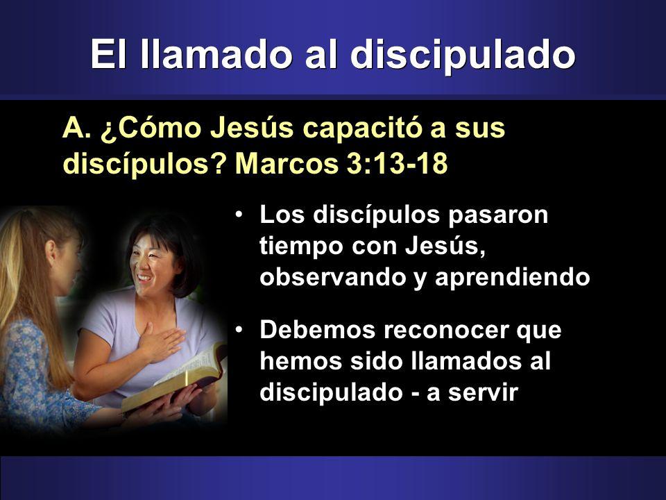 El llamado al discipulado