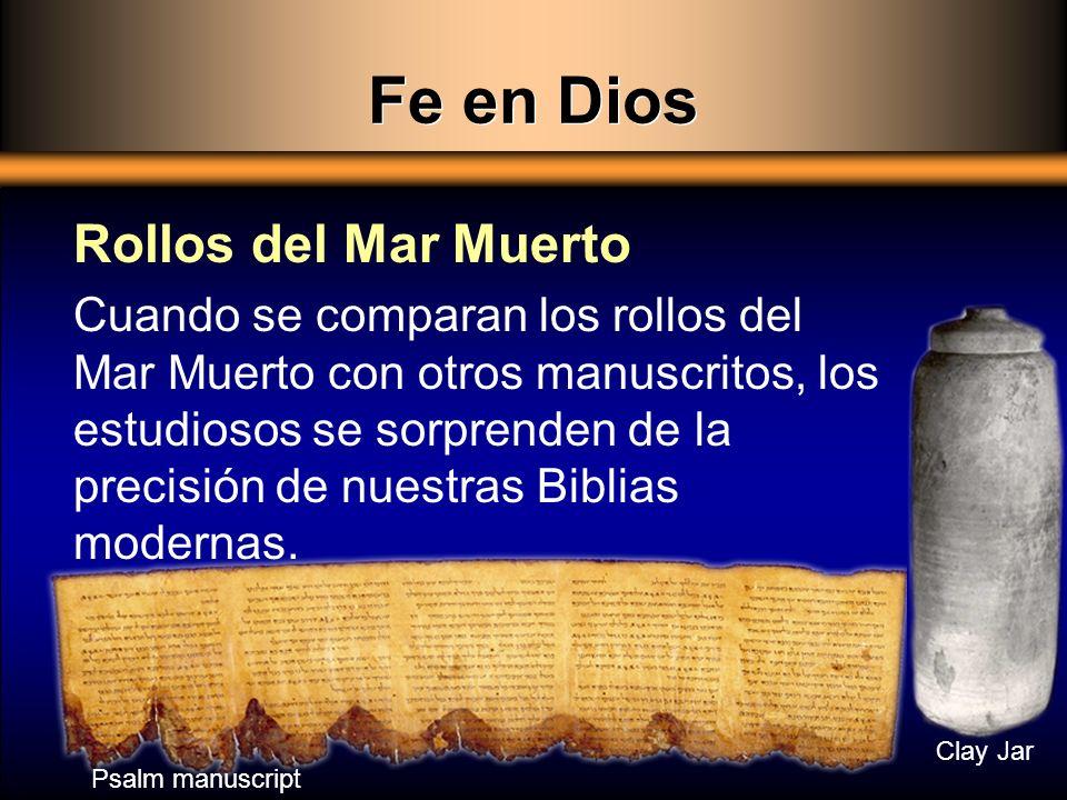 Fe en Dios Rollos del Mar Muerto
