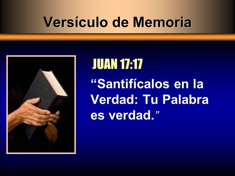 Versículo de Memoria JUAN 17:17