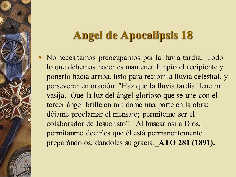 Angel de Apocalipsis 18